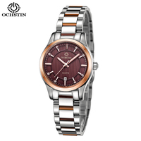 OCHSTIN New Elegant Rhinestone Women S Watch Business Female Clock Calendar Stainless Steel Ladies Watch Women