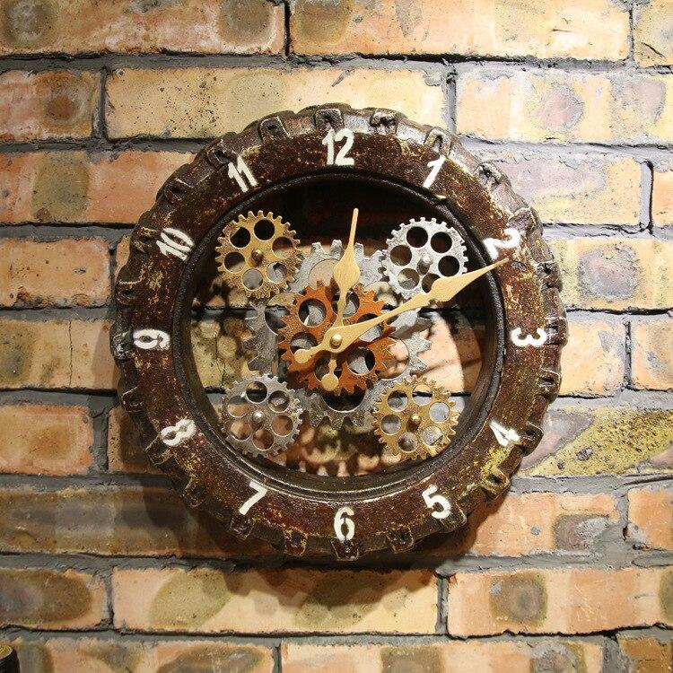 industrial wall clock canada clocks melbourne digital new retro font tire