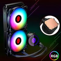 RGB CPU Water Cooling Heatsink 240mm Water Cooler with 4pin PWM CPU Cooling Fan for Intel LGA 2011 775 115X 1366 AMD for Gaming