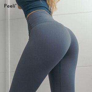 Image 3 - Peeli kadın enerji dikişsiz tayt yüksek bel legacy spor spor tayt karın kontrol Yoga pantolon spor tayt spor
