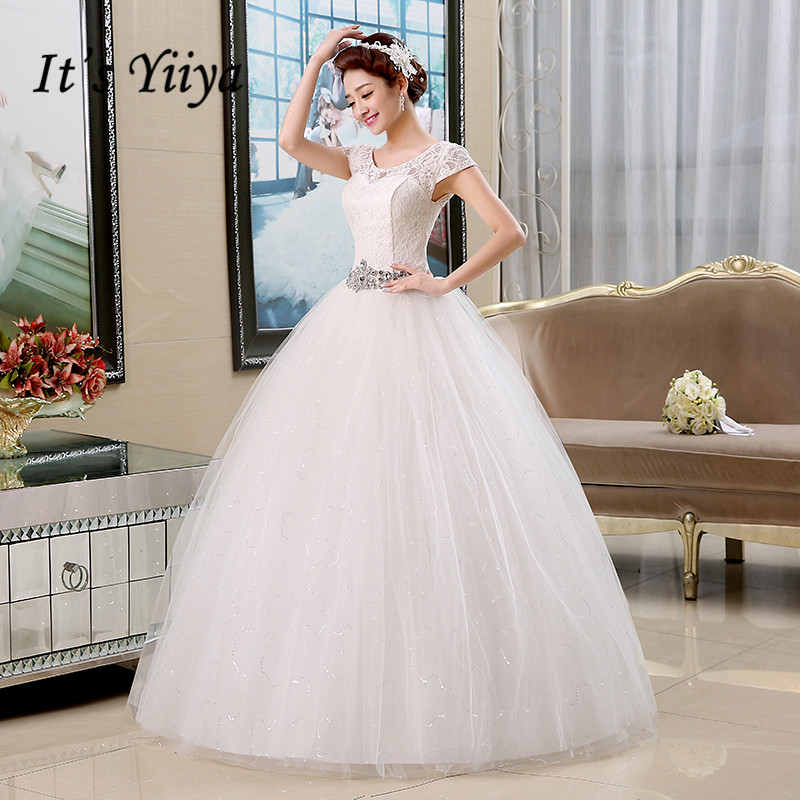Real Photo Livraison Gratuite Robes De Mariée Rouge Blanc Dentelle Paillettes Taille Robes De Mariée Pas Cher Manches Courtes Mariée Robes HS138