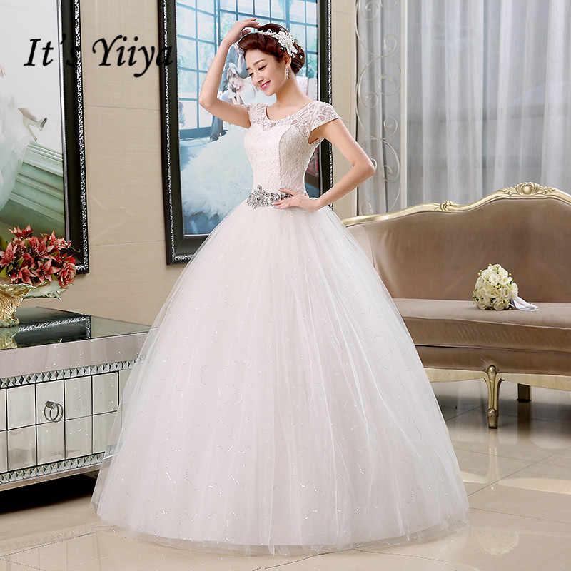 5de7729c4f8a Real Photo Free Shipping Vestidos De Novia Red White Lace Sequins Waist Wedding  Dresses Cheap Short