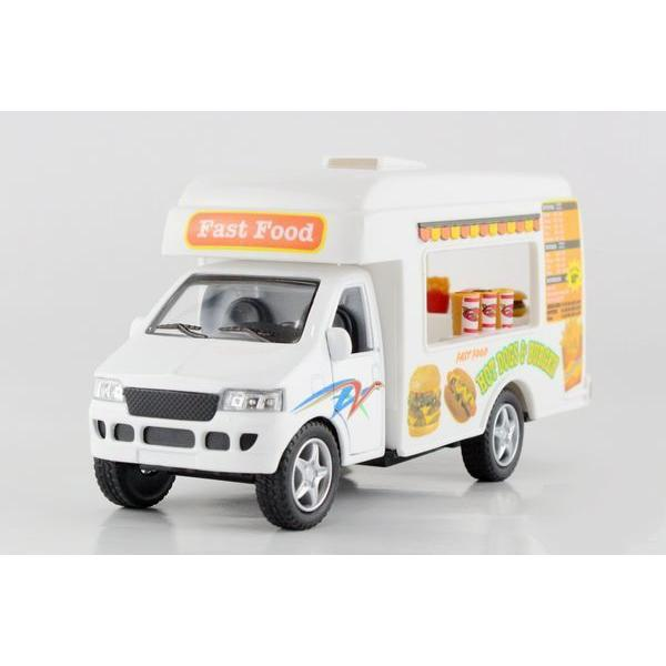 Children Kids Kinsmart Fast Food Truck Model Car KS5257 5inch Diecast Metal Alloy Cars Toy Pull Back Gift