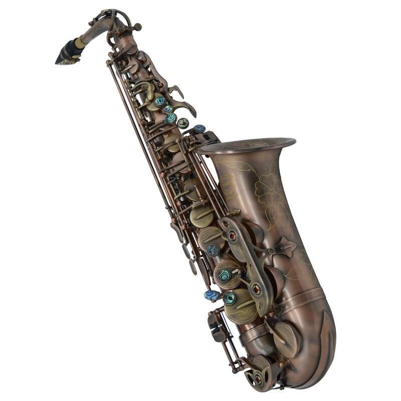 Professional Brand Instruments China WES-2018 Alto Saxophone E Flat Unique Antique Copper Brass Sax Eb Tune Saxofone alto eb falling tune e sax wind instrument saxophone western instruments saxofone saxe alto eb professional musical instrument