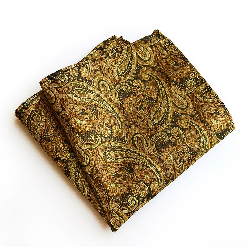 Classic 25*25cm Men's Business Suits Pocket Square Wedding Fashion Paisley Handkerchief Festival Gift For Man