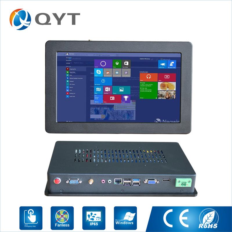 12 inch Widescreen Embedded Mini Industrial Touch Screen Panel pc intel i5 2.3GHz 4GB DDR4 Support Win7/8/10 Linux