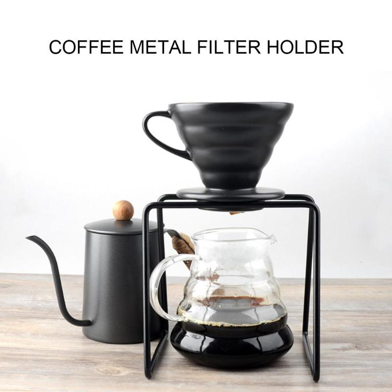 Coffee Dripper Stand Metal Filter Frame Holder Geometric Drip Cup Bracket Paperless Reusable Pour Over Coffee Filter Stand