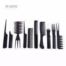 10 Teile/satz Professional Hair Pinsel Kamm Salon Barber Anti-statische Haar Kämme Haarbürste Friseur Kämme Haarpflege Styling Werkzeuge