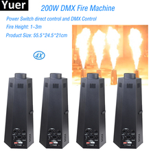 4Pcs/Lot 200W Six (Four) Corner Stage Flame Machine Spray Fire Machine Dmx Flame Projectors Stage Equipment DMX Fire Machine 2pcs lot 6 angle dmx fire machine 90v 240v dmx512 flame projectors spray fire machine safe to use 200w fire effect stage light