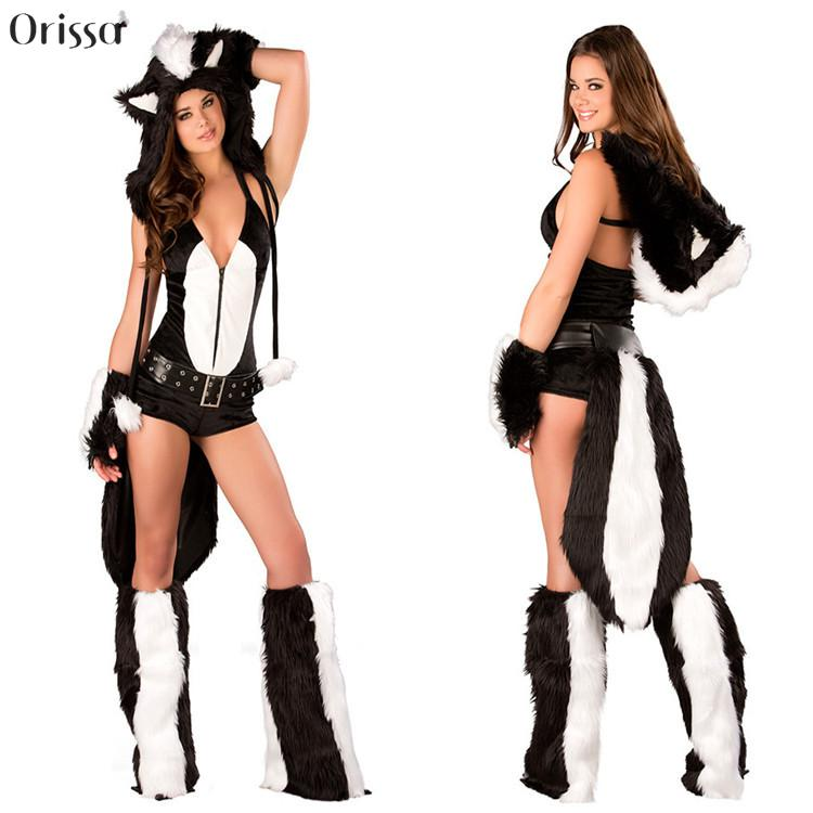 Cosplay Halloween Masquerade Cat Costumes Sexy Wild Skunk Furry Costume Catwoman Party Clothes Drop Shipping-in Sexy Costumes from Novelty u0026 Special Use on ...  sc 1 st  AliExpress.com & Cosplay Halloween Masquerade Cat Costumes Sexy Wild Skunk Furry ...