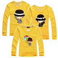 1 pc 95% Cotton Kids Long Sleeve Family Set T Shirts 2015 Matching Family Clothing Mother and Daughter Father Son Clothing Sets