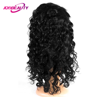 Addbeauty Lace Wig 150% Human Virgin Brazilian Loose Wave Baby Hair Free Part Pre Plucked Hairline 240 260 G Unprocessed