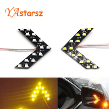 Newest 2 Pcs 14 SMD LED Arrow Panel For Car Rear View Mirror Indicator Turn Signal Light parking light car styling free shipping