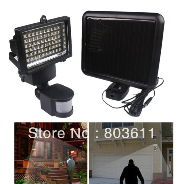 super bright solar powered 60 led outdoor motion activated detector