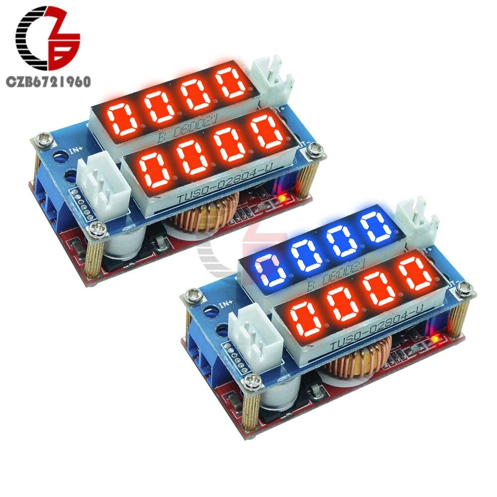 DC 5V-32V 5A CC CV Step Down Power Supply Charing Module with Digital Voltmeter Ammeter LED Driver Indicator Voltage Regulator