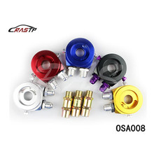 RASTP-New Universal Modified Racing Car Oil Filter Sandwich Plate Cooler Adapter Color blue red gold silver black RS-OSA008