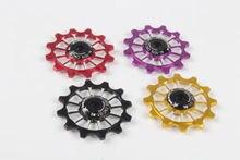 MEROCA MTB Road Bike Rear Derailleur 12T Guide For 8.9.10.11 Speed Cycling Ceramics/Metal Pulley Bearing Wheel 1pcs 4 Colors