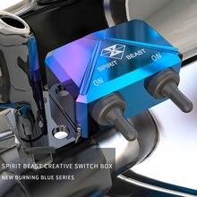 חית רוח אופנוע קטנוע מתג בקרת תיבת כידון פנס CNC אלומיניום סגסוגת מפגע אור עמיד למים מתג תיבה
