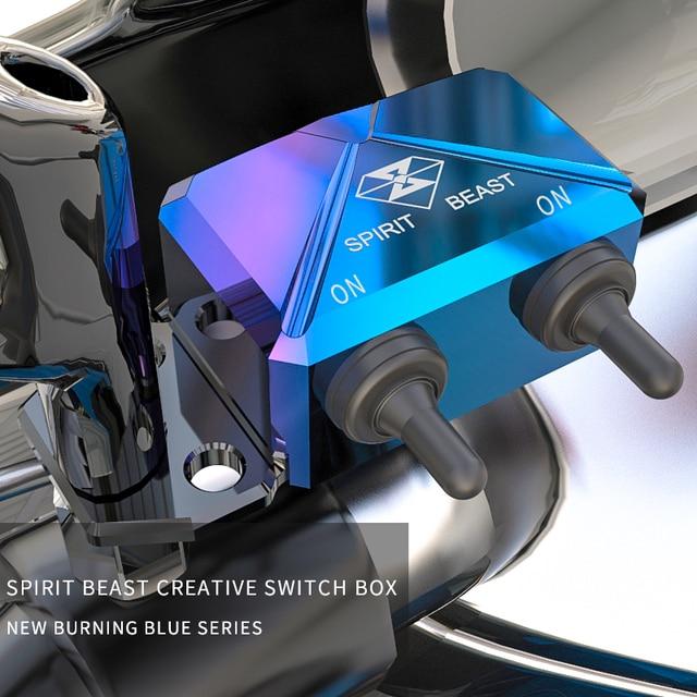 GEIST BEAST Motorrad Roller Schalter Control Box Lenker Scheinwerfer CNC Aluminium Legierung Gefahr Licht Wasserdichte Schalter Box