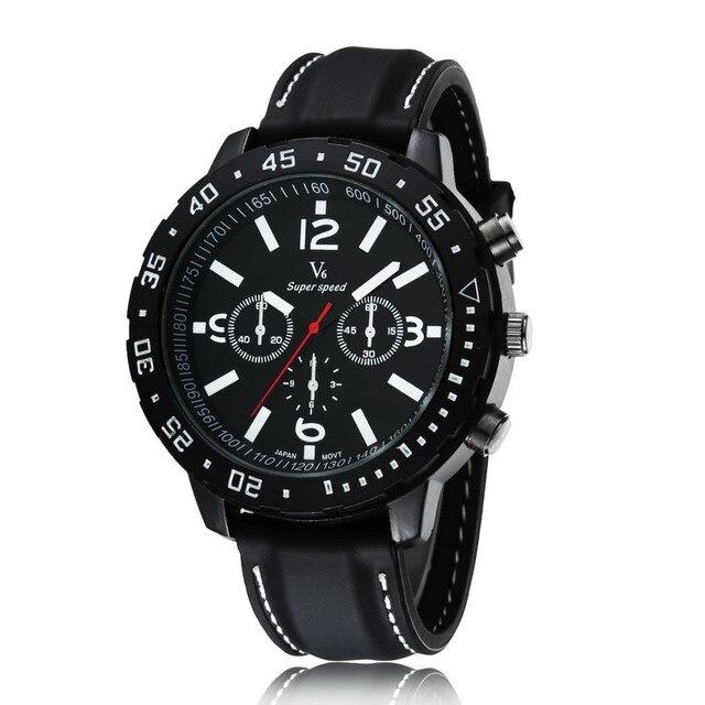 834d5c70553e V6 Mejores Relojes Deportivos para Los Hombres de Silicona Relojes de  pulsera de Cuarzo Analógico Relogio