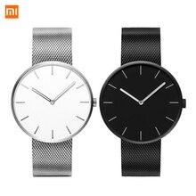 Xiaomi TwentySeventeen нержавеющей кварцевые пара наручные часы для мужчин женщин часы водостойкий сталь Ремешок Браслет 3ATM подарок для влюбленных