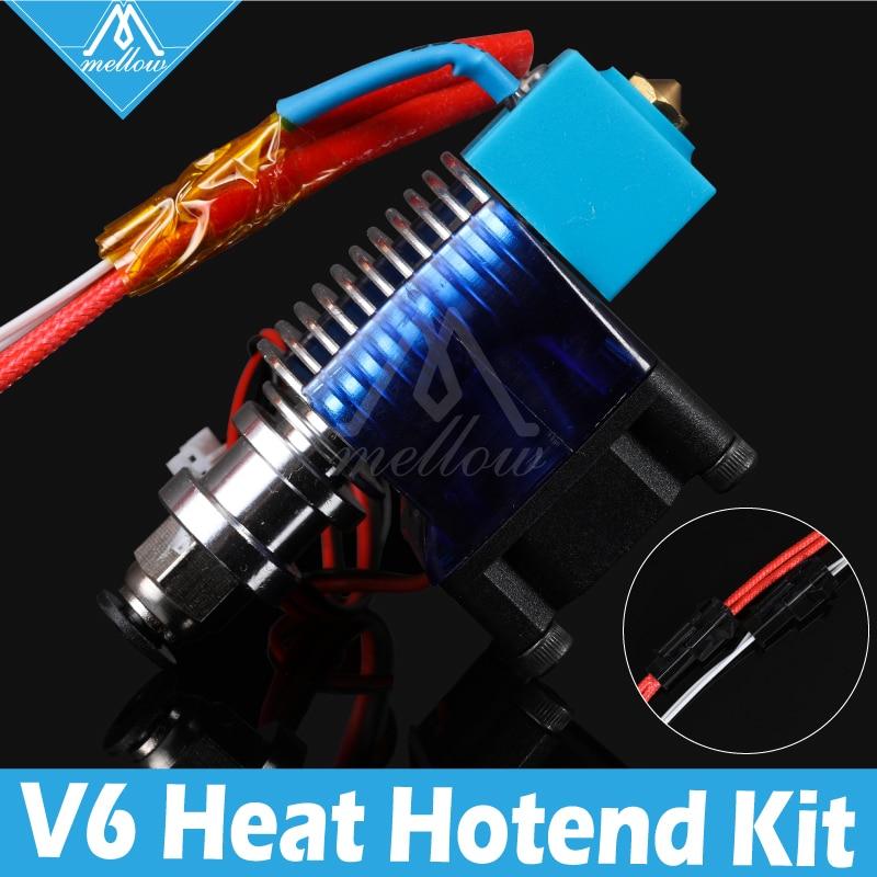 Mellow High all-metal v6 hotend 12V/24V remote Bowen print J-head Hotend and cooling fan for PT100 E3D HOTEND Extruder ultimaker 1 3d printer e3d v6 hotend extruder full metal print head