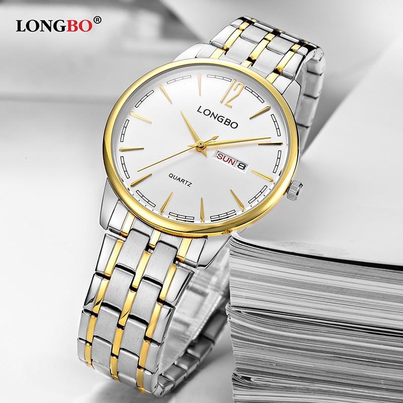 LONGBO Fashion Men Women Watches Classic Waterproof Couple Wristwatch Casual Lovers Watch Gifts Mujer Reloj Hombre Famale 5089
