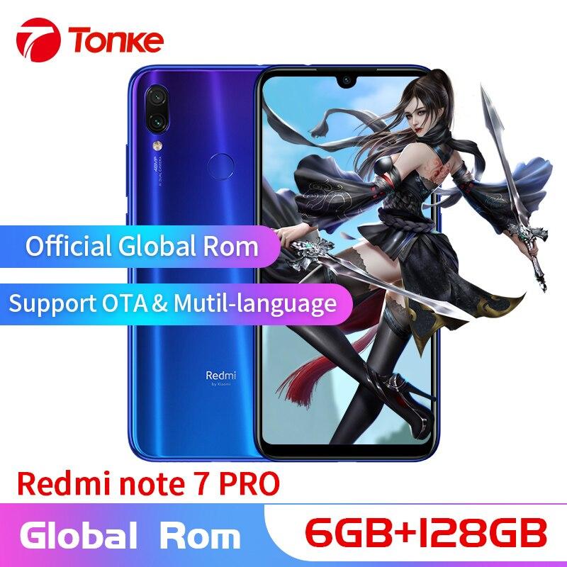 Original novo Xiaomi Nota Redmi Telefone 7 Pro 6 GB de RAM 128 GB ROM Snapdragon 675 Núcleo octa 6.3