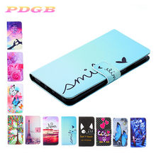 Phone Cases Covers For Alcatel 1X 5008Y 1S 5024D 1C 5003D 2019 Case PU Leather coque for Alcatel 1s 1x 1c art paint girl cover(China)
