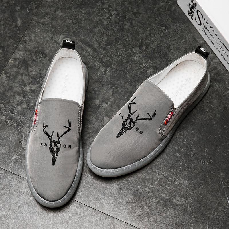 gris Uomo Silp New Alpargatas Respirant Hommes Sur Casual Bonne Noir Mocassins Mode Noir Jookrix Qualité 2018 Mâle Chaussures Toile P5q7ZxU8Z