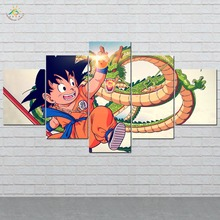 Cute Dragon Ball Wall Art HD Prints Canvas Painting Modular Picture And Poster Decoration Home 5 PIECES