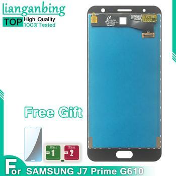 Super amoled LCD do samsunga Galaxy J7 Prime LCD G610 G610F G610M 5 5 #8221 wyświetlacz LCD z montaż digitizera ekranu dotykowego tanie i dobre opinie lianganbing Pojemnościowy ekran Nowy For J7 Prime LCD G610 G610F G610M 1920x1080 3 5 5inch black white gold part Test one by one