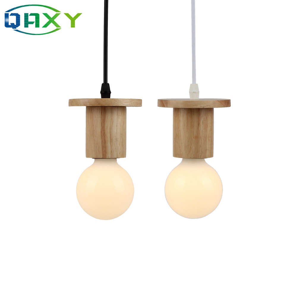 2019 Popular Cottage Style Simple Wood Pendant Lamp E27 Children Room Bed Room Pendant Light Cafes Clothes Store Lighting[D2505]