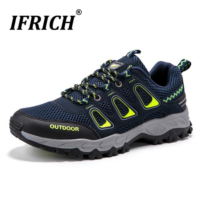 Мужская спортивная обувь уличные дышащие весенние летние походные кроссовки для Для мужчин горный треккинг подход загрузки Trail Mesh восхождение обуви