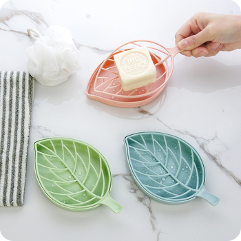 Double-layer leaf-shaped soap holder