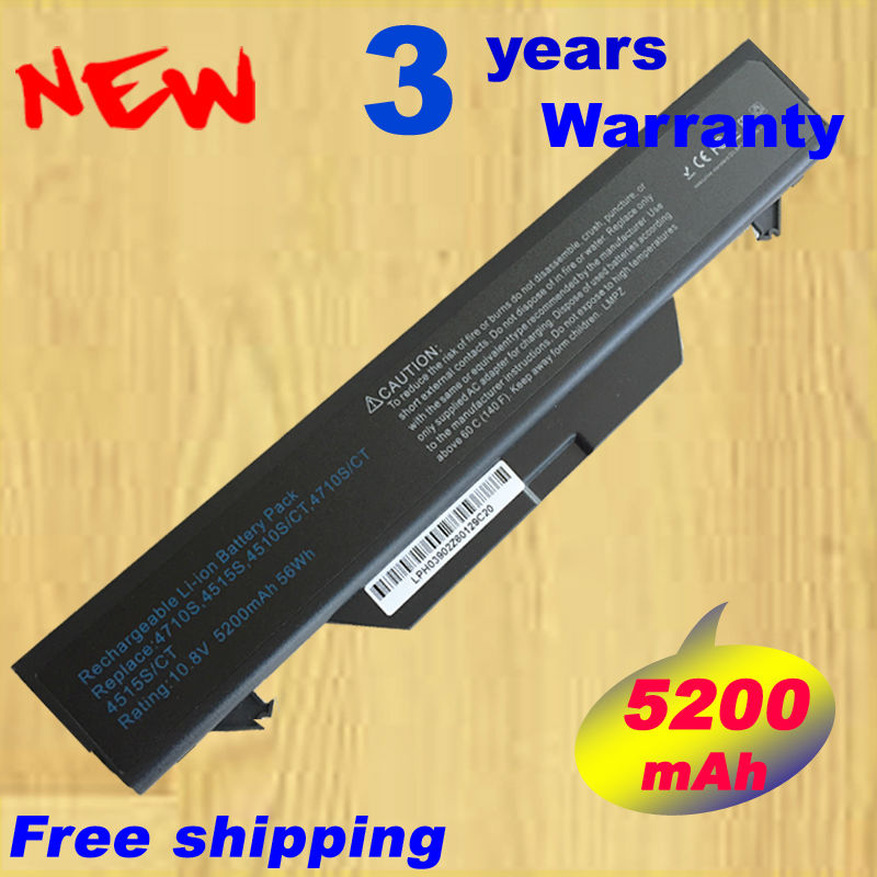 Wholesale new 6 Cells Laptop Battery For HP 4510S 4710S 4515S Seties HSTNN-OB89 HSTNN-IB89 HSTNN-1B52 FREE SHIPPING