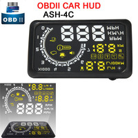 5 5 Screen Auto OBDII Car HUD OBD2 Port Head Up Display KM H MPH Overspeed