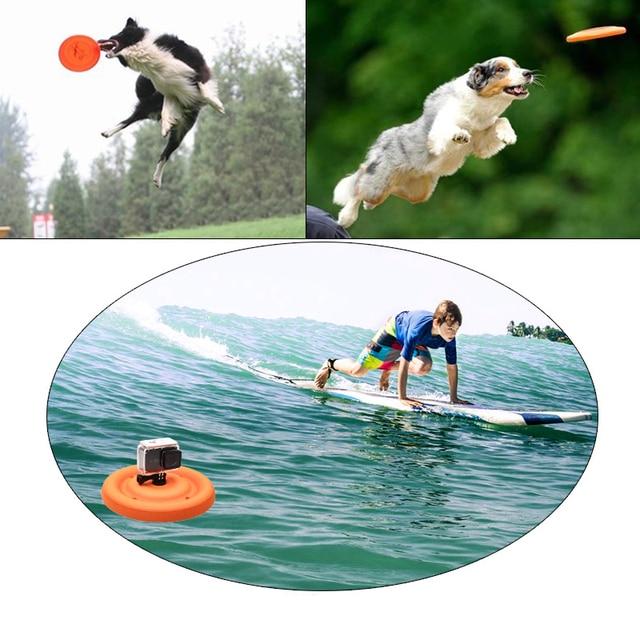 Floating Disc Water tray Buoy frisbee for Gopro Hero 3+ 4 5 6 xiaomi yi 4k Sjcam Sj4000 Sports action camera accessories 5