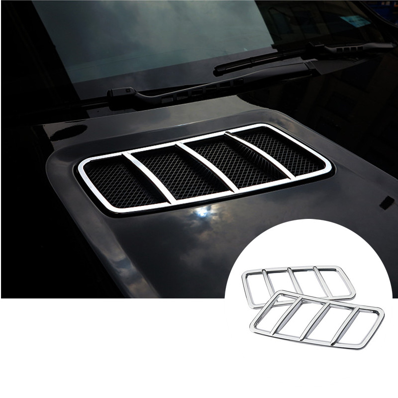 Exterior Front Hood Air Vent Cover Trim For Mercedes Benz GLS Class 2016 2pcs for mercedes benz ml gl class w164 05 11 front air suspension air spring bag 1643204513 for ml320 ml350 gl450 gl500 front 06 08