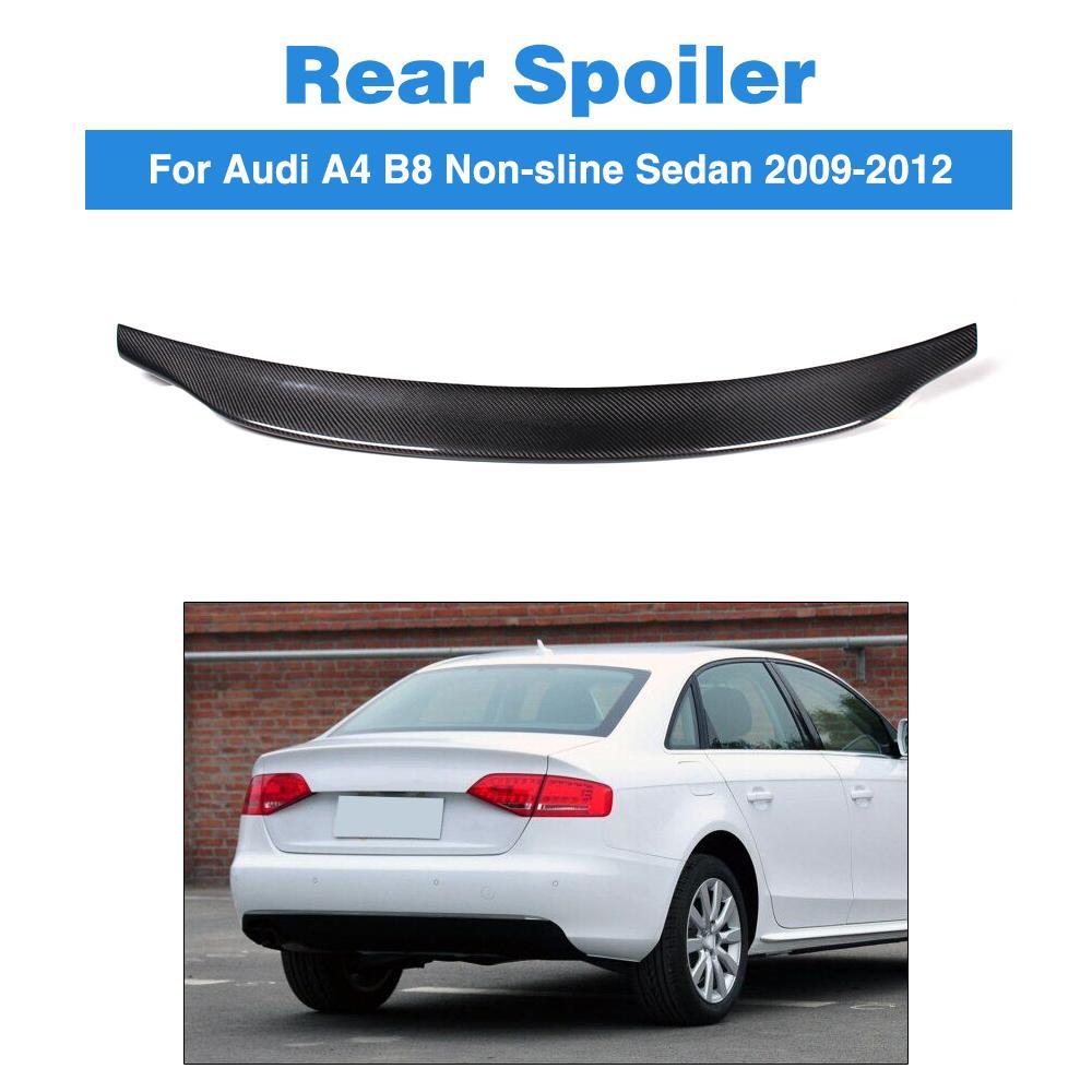 Carbon Fiber /  FRP Unpainted C Style Rear Trunk Spoiler Boot Lip Wing For Audi A4 B8 Non-Sline Sedan 2009 - 2012Carbon Fiber /  FRP Unpainted C Style Rear Trunk Spoiler Boot Lip Wing For Audi A4 B8 Non-Sline Sedan 2009 - 2012