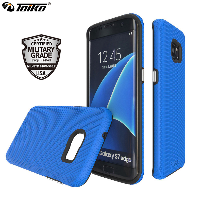 40dccdeac TOIKO X Guard Mobile Cases for Samsung Galaxy S7 Edge Back Covers Shockproof  Dual Layer PC TPU Bumper Phone Accessories Shell