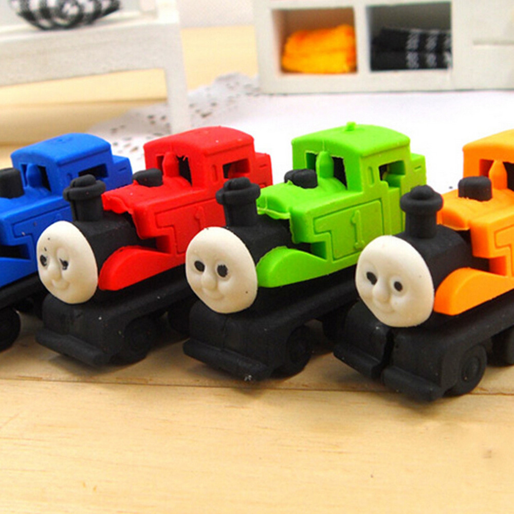 Small Train Eraser For Baby To Play In The Bathtub Mother Toy Eraser Teacher School Stationery Eraser  MOQ 1 Piece