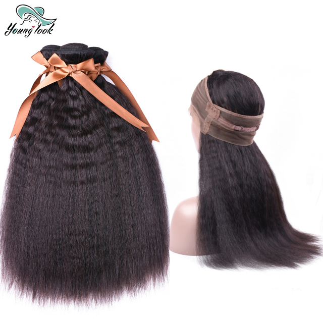 Young Look Kinky Straight 360 Lace Frontal With Baby Hair Natural