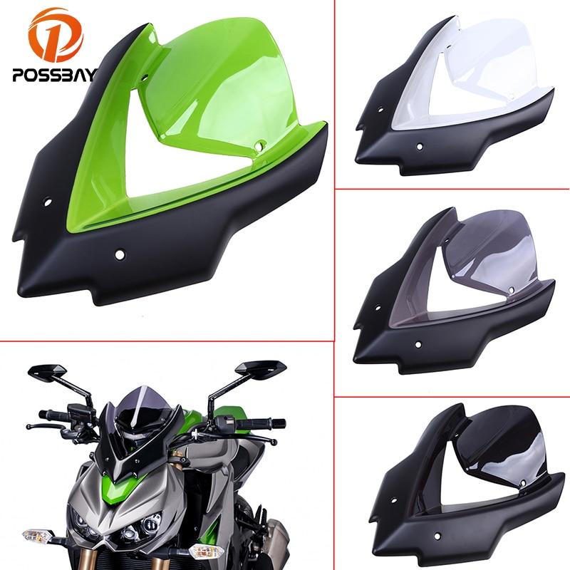 POSSBAY pour Kawasaki Z1000 z1000 15-16 2015 2016 moto pare-brise vent déflecteur Scooter pare-brise Double bulle protecteur