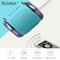kinter HY 30 Bluetooth Speaker portable LED light USB TF card input FM radio sound system use in bathroom office outdoor sport