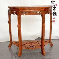 Dongyang палисандр мебель из массива дерева, палисандр, половина круглый стол, крыльцо стол, столик полумесяца, half Moon Таблица, простой стены t