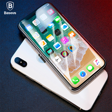 Baseus 4D Full Screen Tempered Glass For iPhone X Film Ultra Thin Front Cover Surface Protector