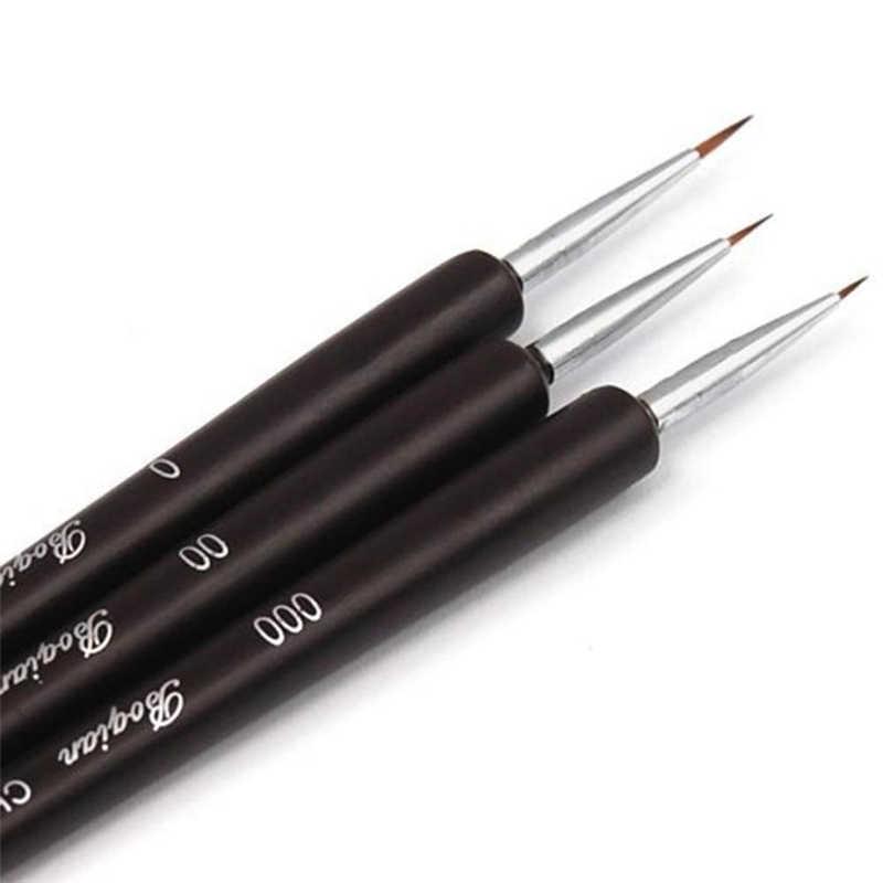 ISHOWTIENDA 3 stücke Punktierung Malerei Zeichnung UV Gel Liner Polnischen Pinsel Werkzeug Nail art Stift 3 stücke/set nagel kunst stift 3d Nagel Pinsel