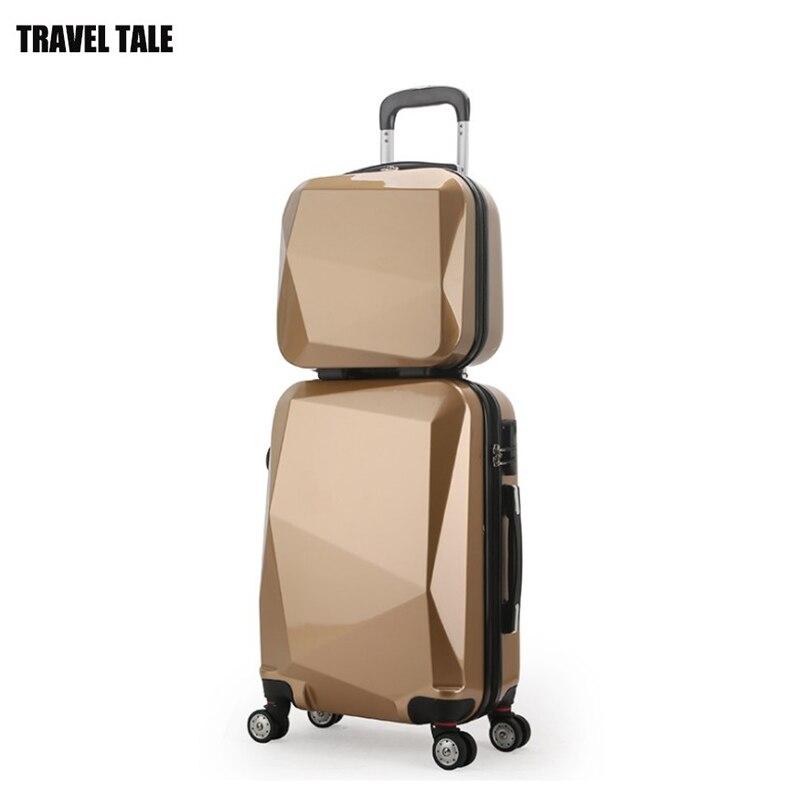"""REISE TALE 20 """"24"""" 28 """"spinner trolley Reisetasche koffer set abs gepäck auf rädern freies verschiffen-in Gepäck-Sets aus Gepäck & Taschen bei  Gruppe 1"""