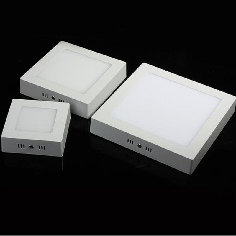 Square Panel Light 9W 15W 25W LED Ceiling Light Surface Mounted AC85-265V Spot Ceiling Lighting Lamp Warm/Natural/Cold White